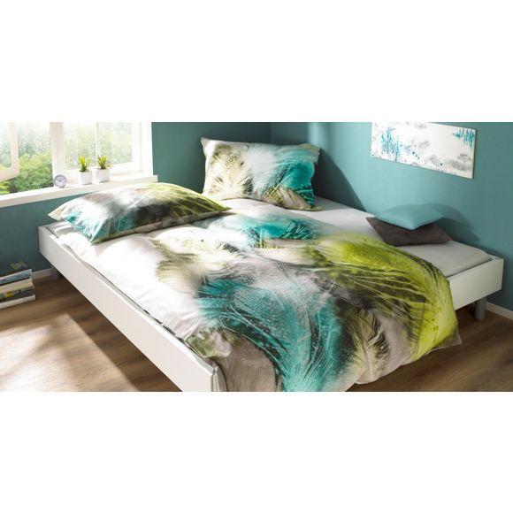 Stilvolle Bettwäsche Mit Farbenfrohen Federn Bettwäsche Bed