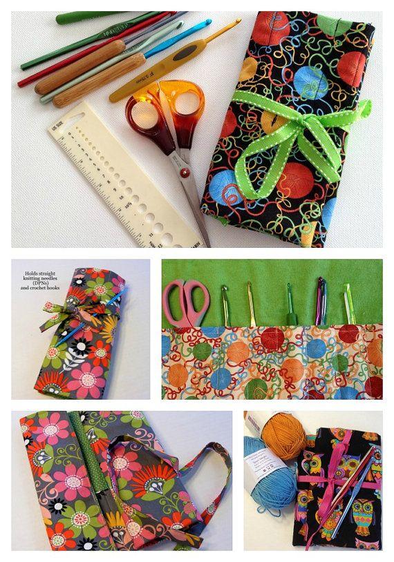 Knitting Gift,Knitting Needle Organizer,Sock Needle Case, Double Pointed Needle case, DPN case, Sock Knitting Case, Cat Knitting Needle Case