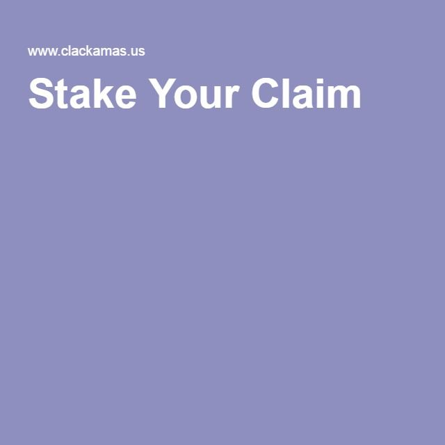 stake your claim website