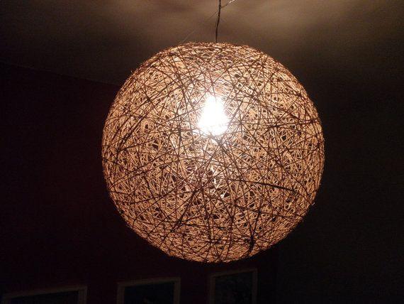 Ball Hemp Light String Lamp Pendant Ceiling Eco Friendly 43cm Diameter On Etsy 71 50