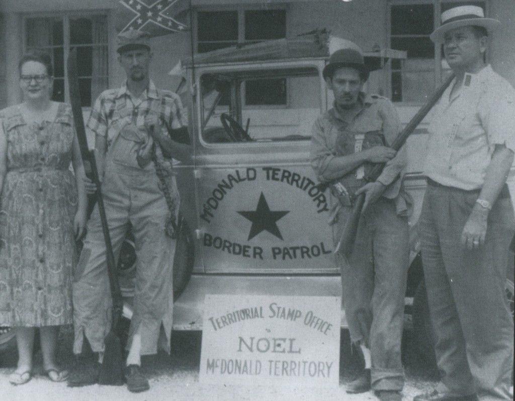 Militia with truck Orval Faubus51st StateHighway MapElk