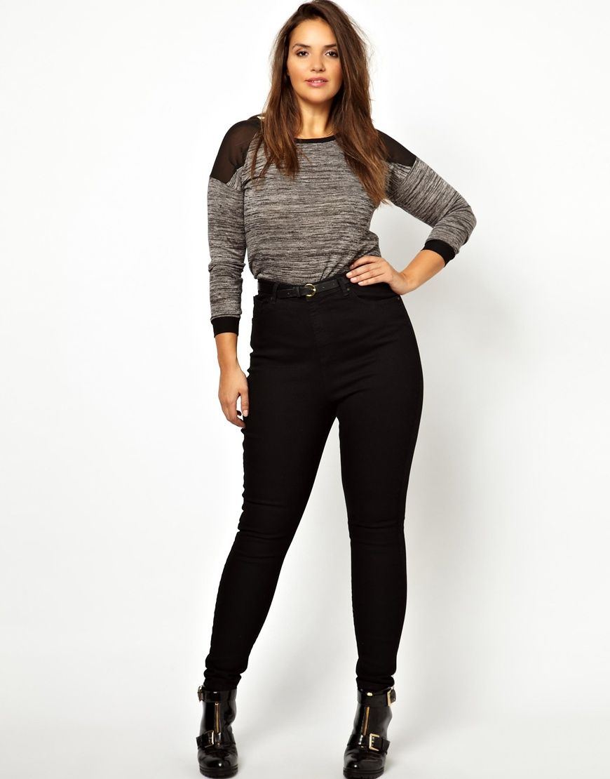 Image 4 of ASOS CURVE Skinny Jean With Ultra High Waist