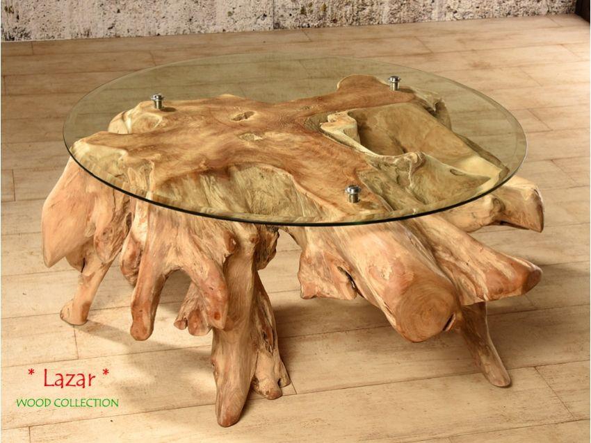Lazar Couchtisch Aus Massivem Wurzelholz Inklusive Glasplatte Wood Collection Couchtisch Sofatisch Wohnzimmertisch Beistell Wurzelholz Tisch Couchtisch