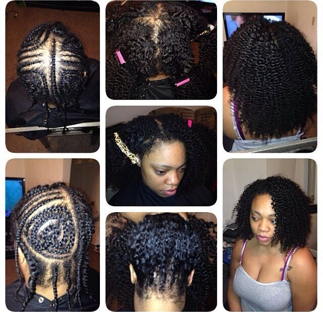 sew in braid pattern with leave out - Google Search | Want ...