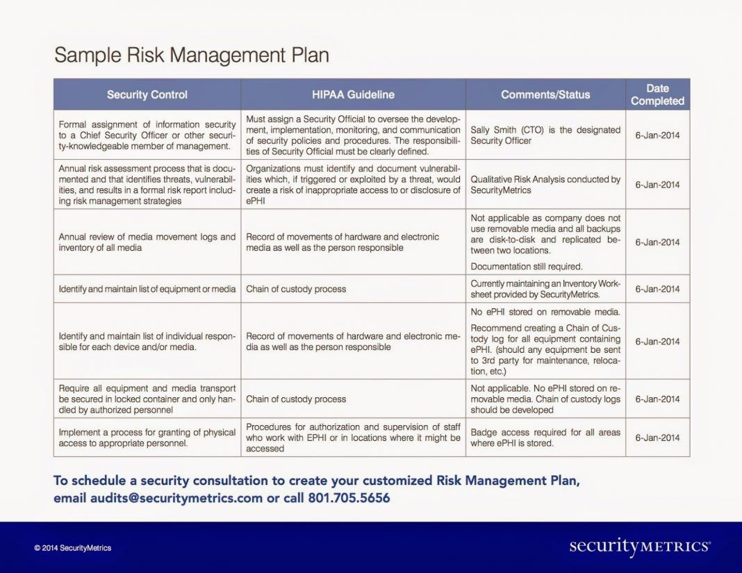 Risk Management Report Template Examples Iso 14971 Medical