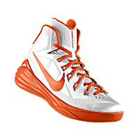 I designed the white Nike Hyperdunk 2014 iD men's basketball shoe with  orange blaze trim to