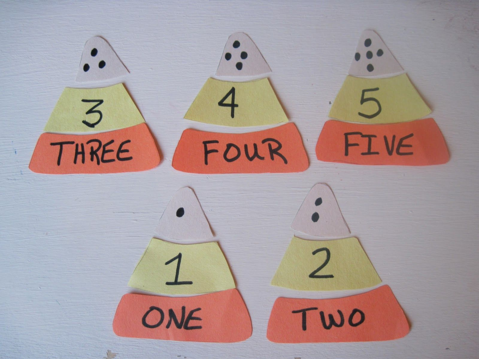 Candy Corn Number Matching Great For October Math Center