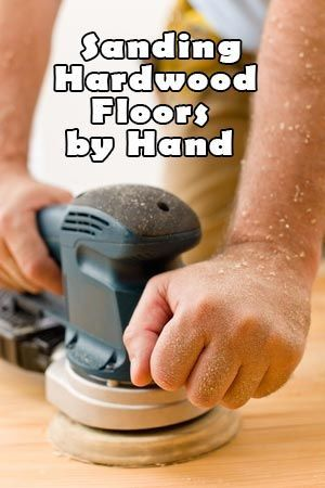 sanding hardwood floors by hand title