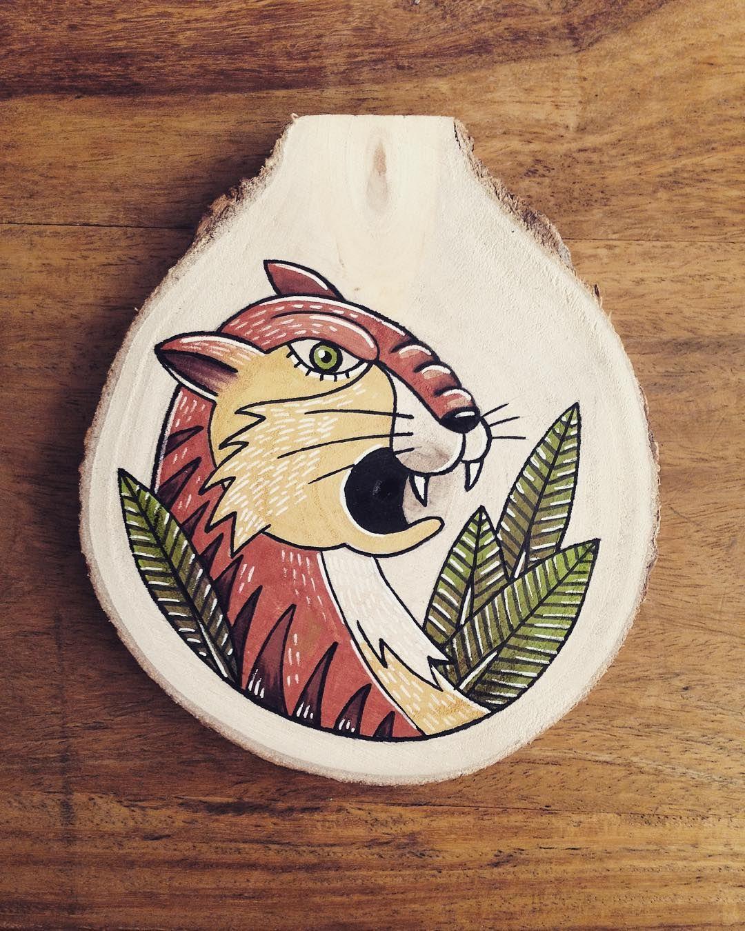 Tiger. #blackboozeillustrations#wood#art#tattooart#drawing#gift#christmas#leaves#animal#etsy#illustration
