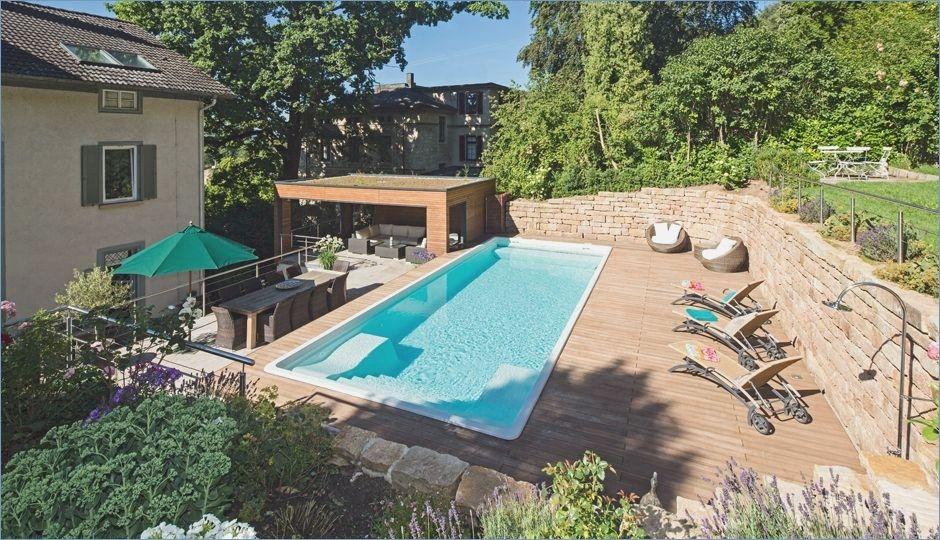 Landscaped hillside location with pool hillside