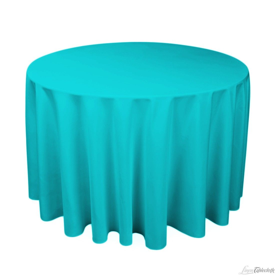 $12     Buy 108 Inch Round Turquoise Polyester Tablecloth For Weddings At  LinenTablecloth! Seamless