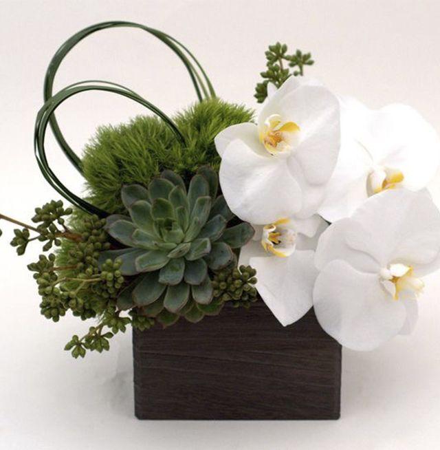 Arreglo floral para decoraci n empresarial ikebana - Centros decorativos modernos ...