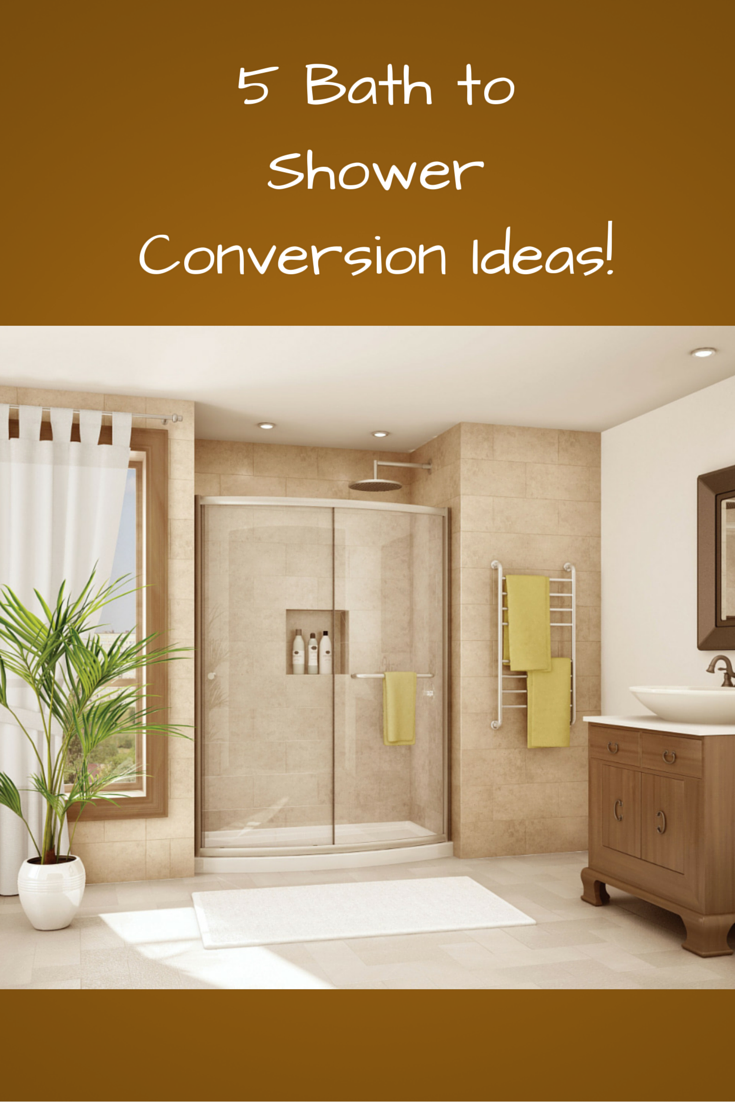 5 new bath to shower conversion ideas