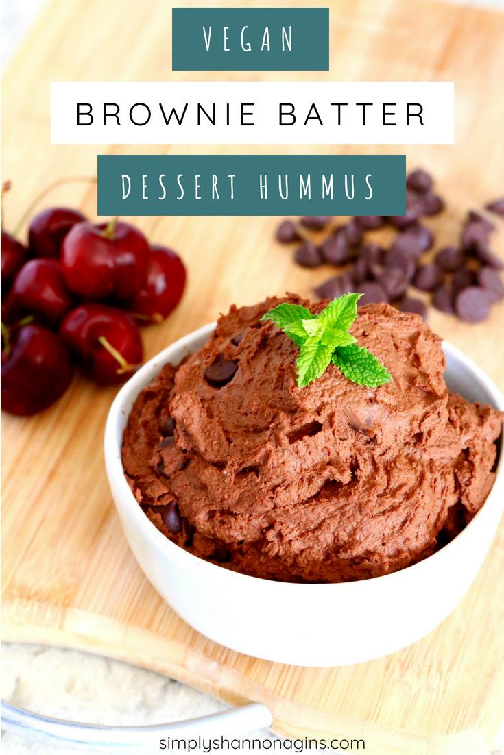 Brownie Batter Dessert Hummus #desserthummus