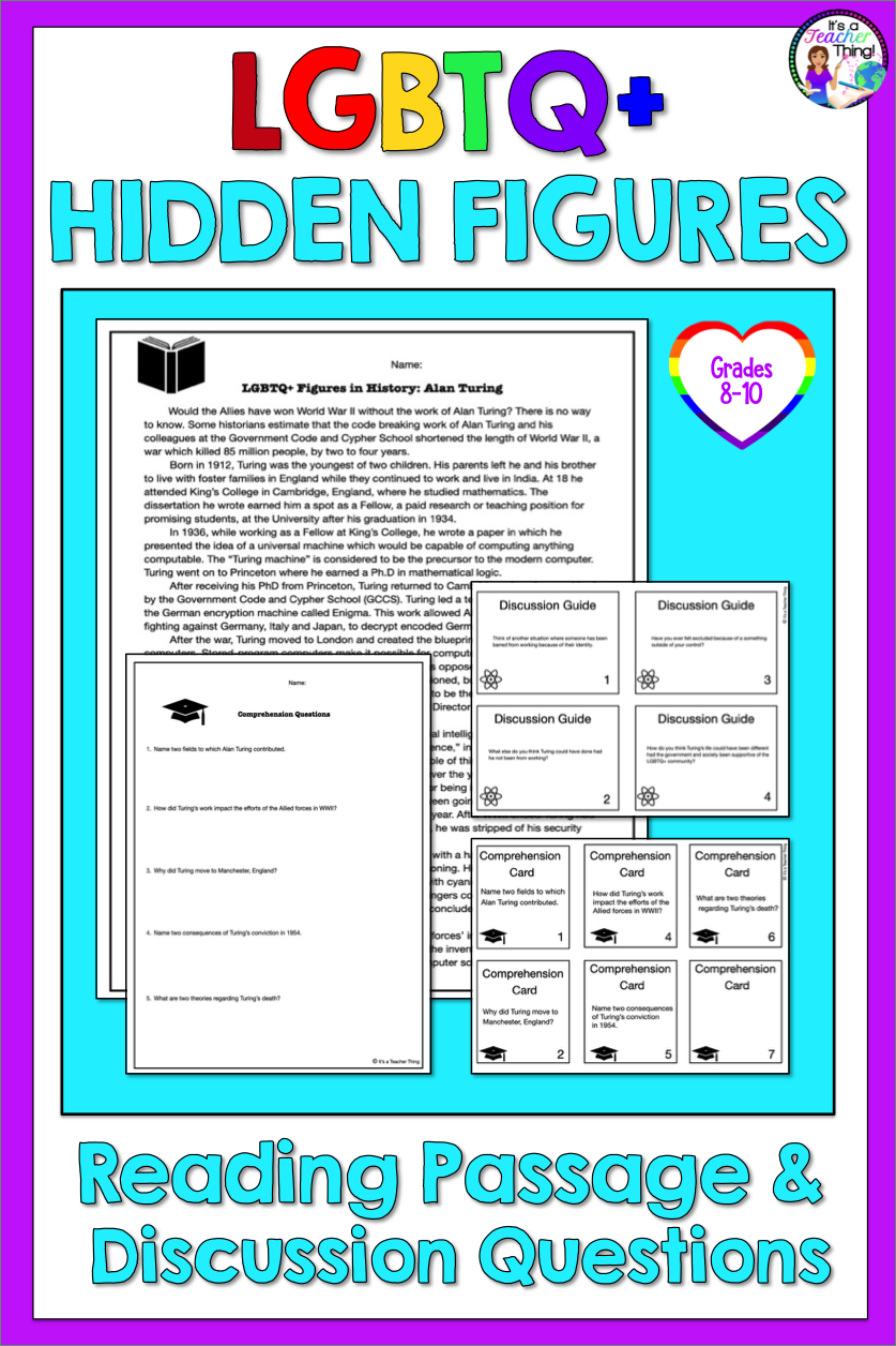 Reading Comprehension Passage And Questions Lgbtq Hidden Figures In History Comprehension Passage Reading Comprehension Passages Reading Comprehension [ 1256 x 837 Pixel ]