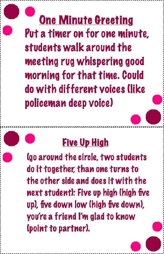 Morning meeting greetings styled are important for a childs morning morning meeting greetings styled are important for a childs morning routine these are just a couple of cute ideas that you could use for a morning meeting m4hsunfo