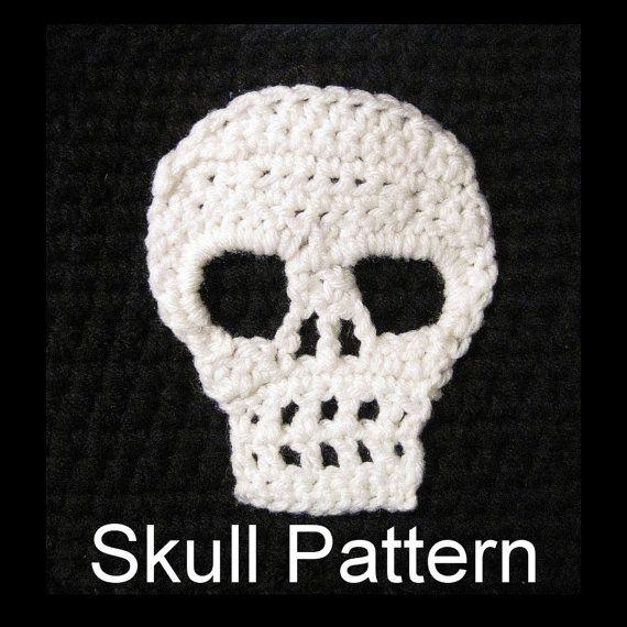 Skull Pattern Crochet Applique Motif by DesigningImpressions, $4.00 ...