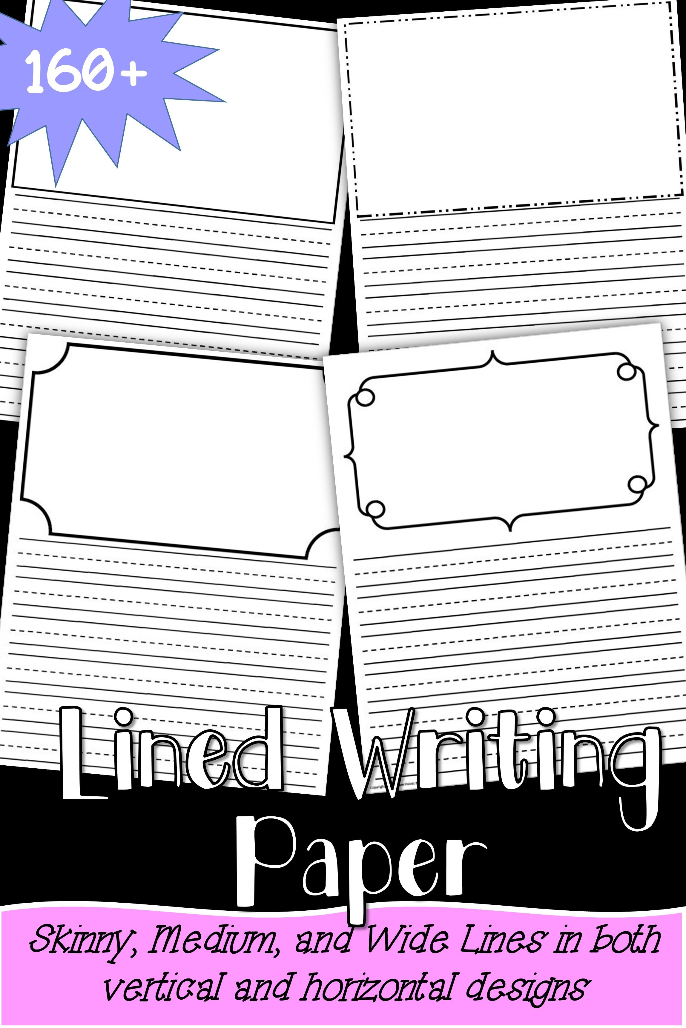 Dotted Lines Writing Paper with Drawing boxes | *** Writing