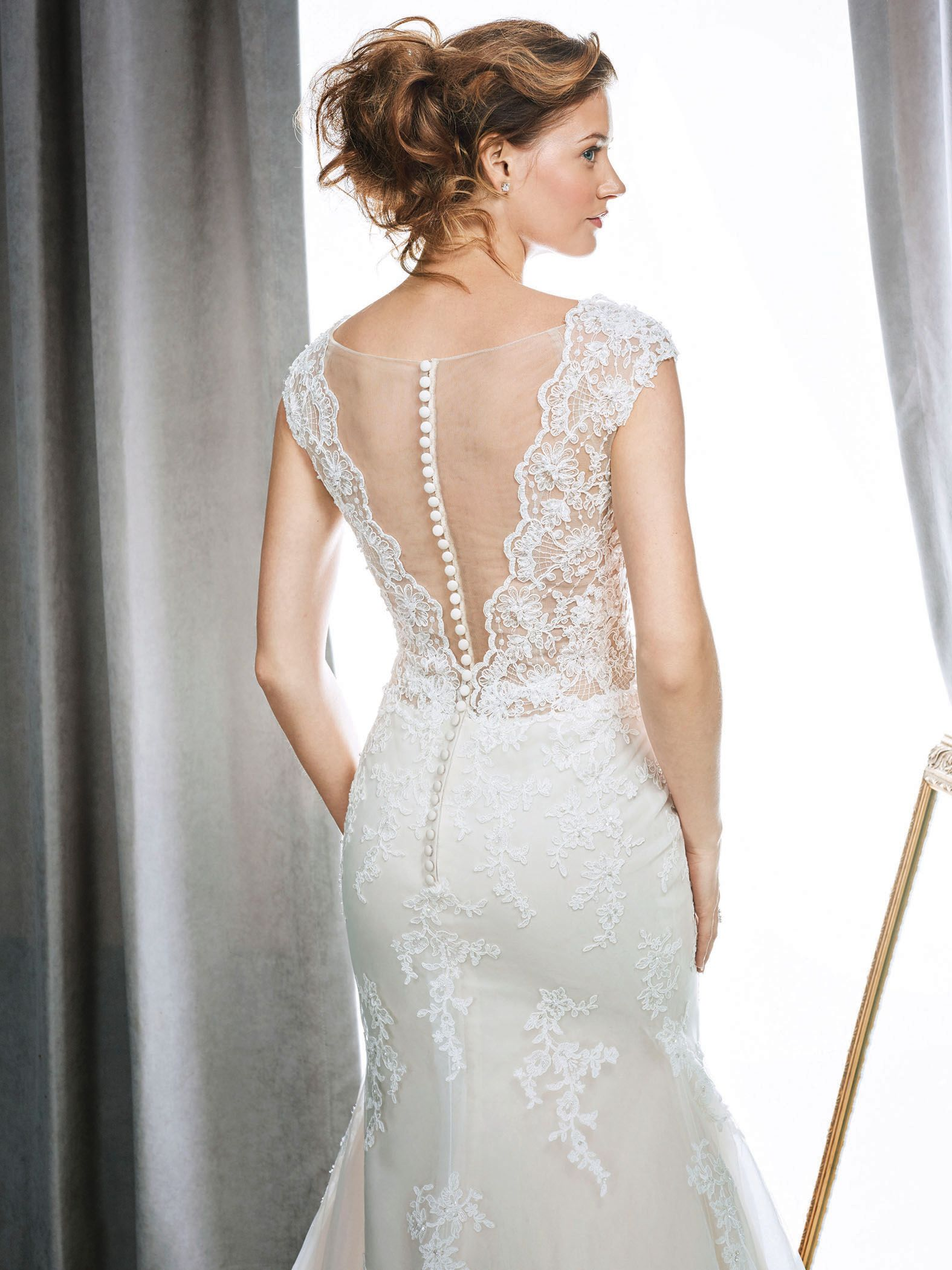 Kenneth Winston Style 1692 | stunning wedding dress with illusion ...