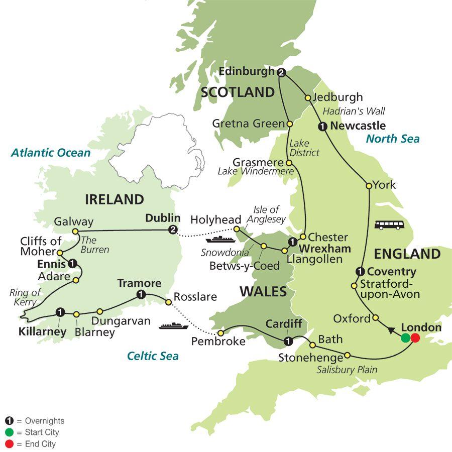 THE BEST OF BRITAIN IRELAND Travel Pinterest Britain - Ireland vacation packages 2015