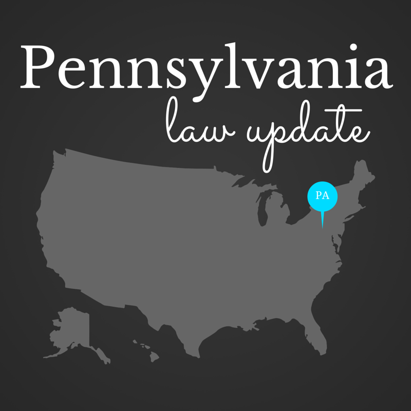 Pennsylvania legislators have enacted two laws that