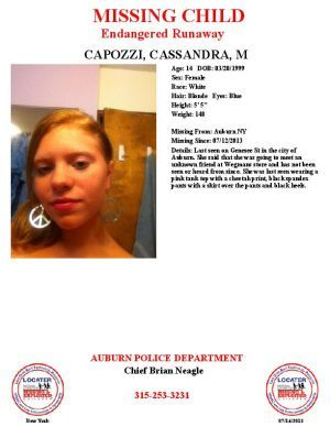 Auburn Police Search For Missing 14 Year Old Girl 14 Year Old Girl Cassandra Old Girl