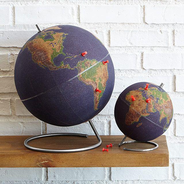 World Travelers Cork Globe Cork Globe And Decorating - Interactive globe map