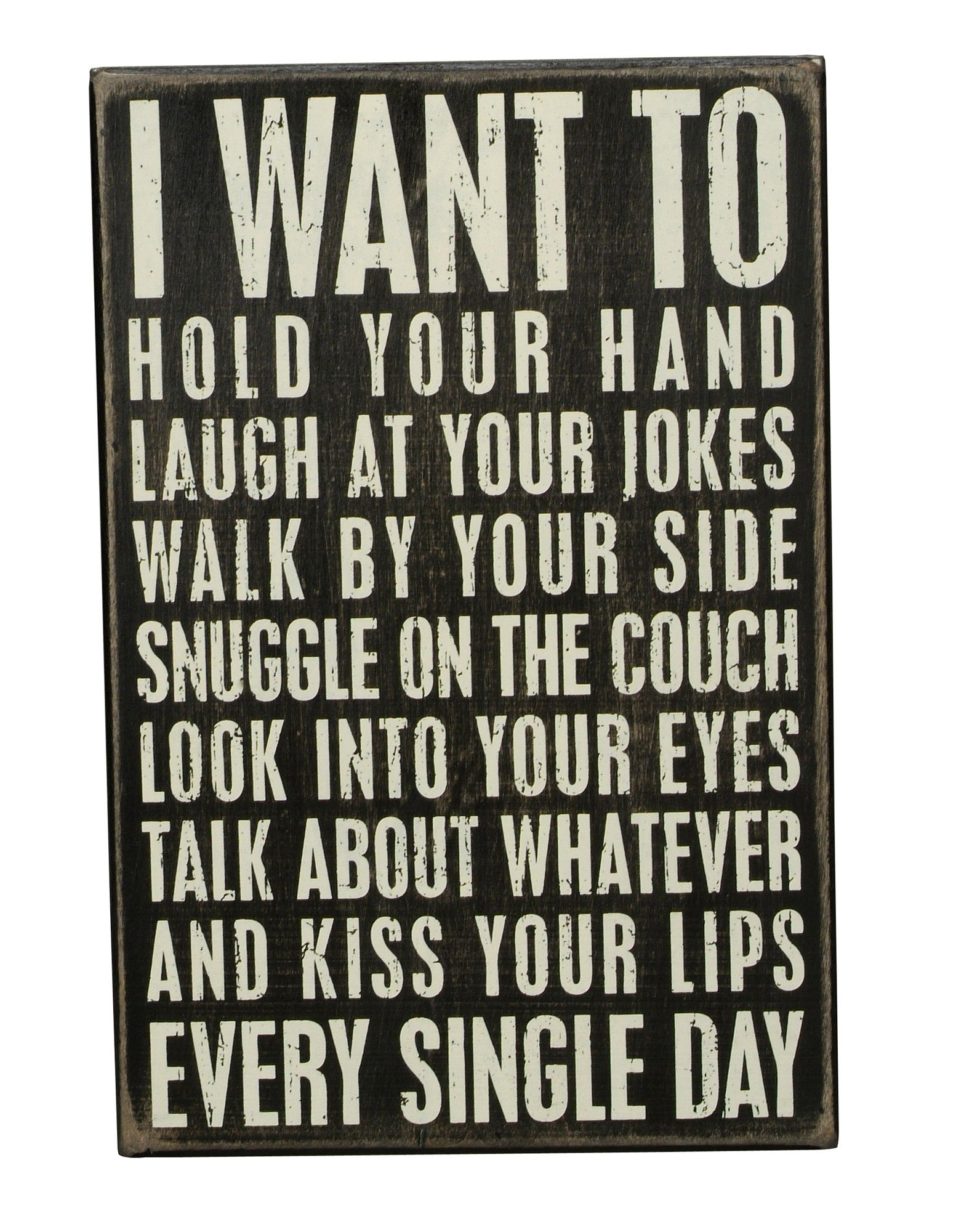 i want to wood box sign - the written word - accessories