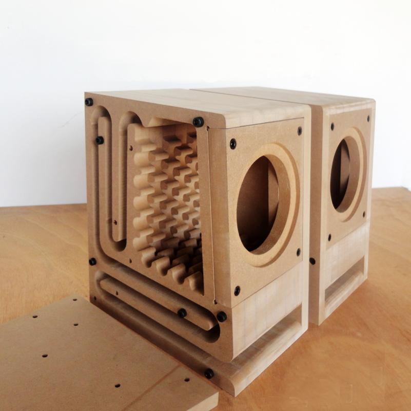 Iwistao Hifi Empty Speaker Cabinet Kits Labyrinth