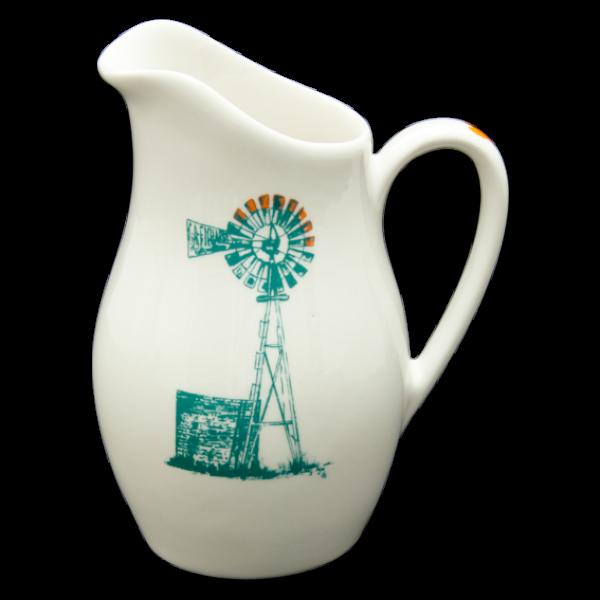 Jug: Alicia Heart Range Windmill R270,00 Colour: Teal and Orange 1 x 800ml Ceramic Jug Dishwasher and Microwave safe Call us: +27 (0) 861999938 Chutney Grey - Cape Town