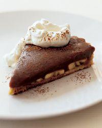 Milk Chocolate Banana Pie #bananapie