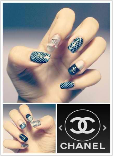CHANEL nail designs pretttyyyy | PARTY ON MY NAILS | Pinterest ...
