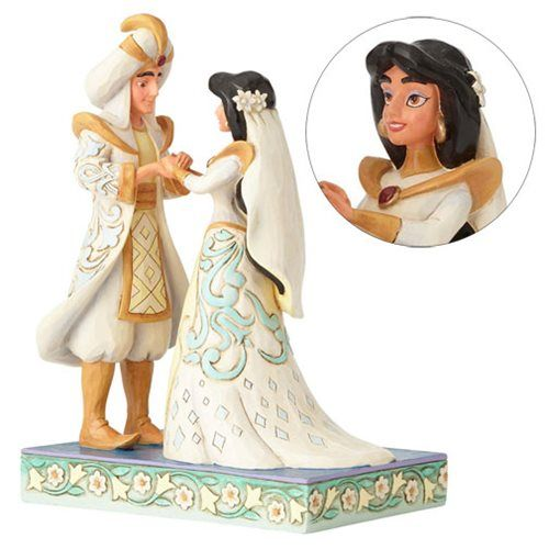 Disney Traditions Aladdin Jasmine And Wedding Statue Made Of Stone Resin Stands About