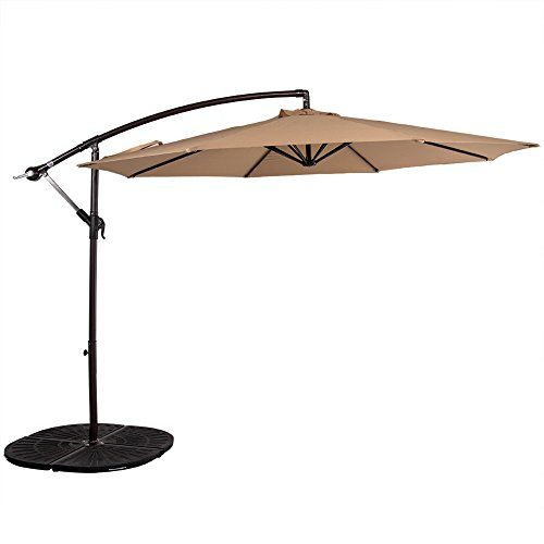 sundale outdoor 10 feet aluminum offset patio umbrella wi httpswww amazoncomdpb01bgpy5uirefcm_sw_r_pi_dp_x_qajhybwpj0xr3 pinterest patio - Amazon Patio Umbrella