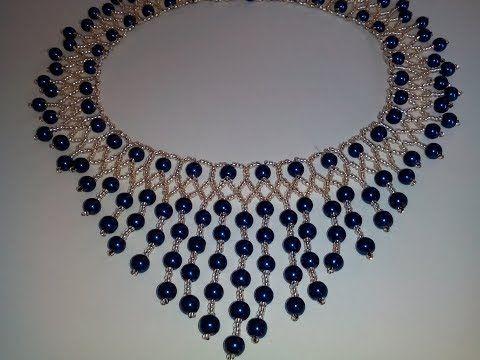 Колье из бисера и бусин. МК. DIY. Necklace. - YouTube #trebleclef