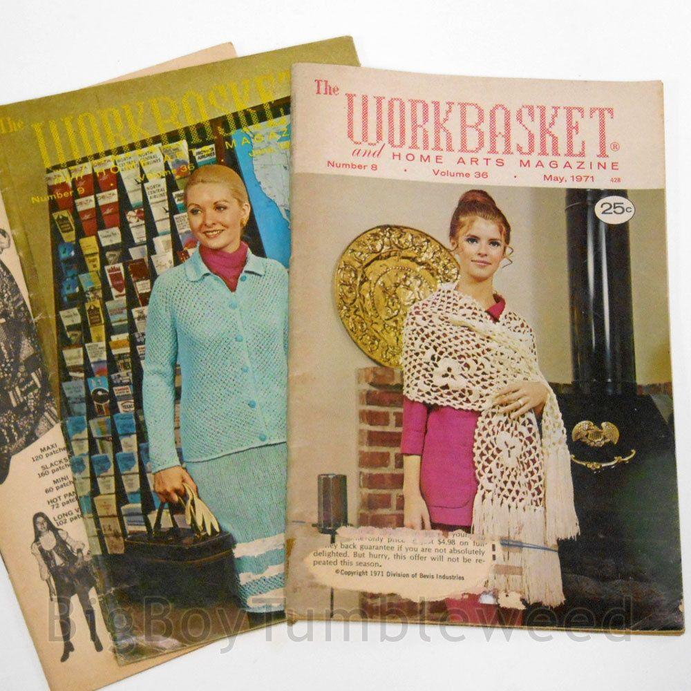 Vintage lot 3 pc 1971 workbasket magazine crafting crochet vintage lot 3 pc 1971 workbasket magazine crafting crochet knitting pattern arts bigboytumbleweed bankloansurffo Choice Image