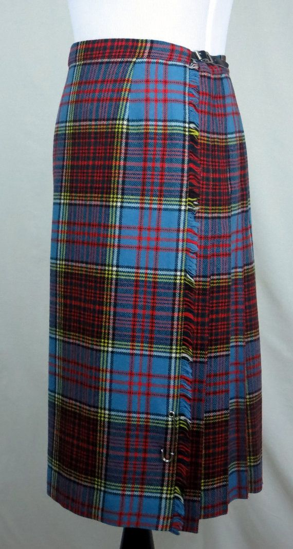 Scottish 100 /% Authentic Wool Tartan Stewart Hunting Ancient Clan Scarf New !