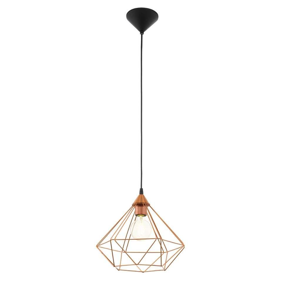 Eglo Hanglamp Tarbes 1 Koperkleurig Hanglamp Plafondverlichting Verlichtingsarmaturen