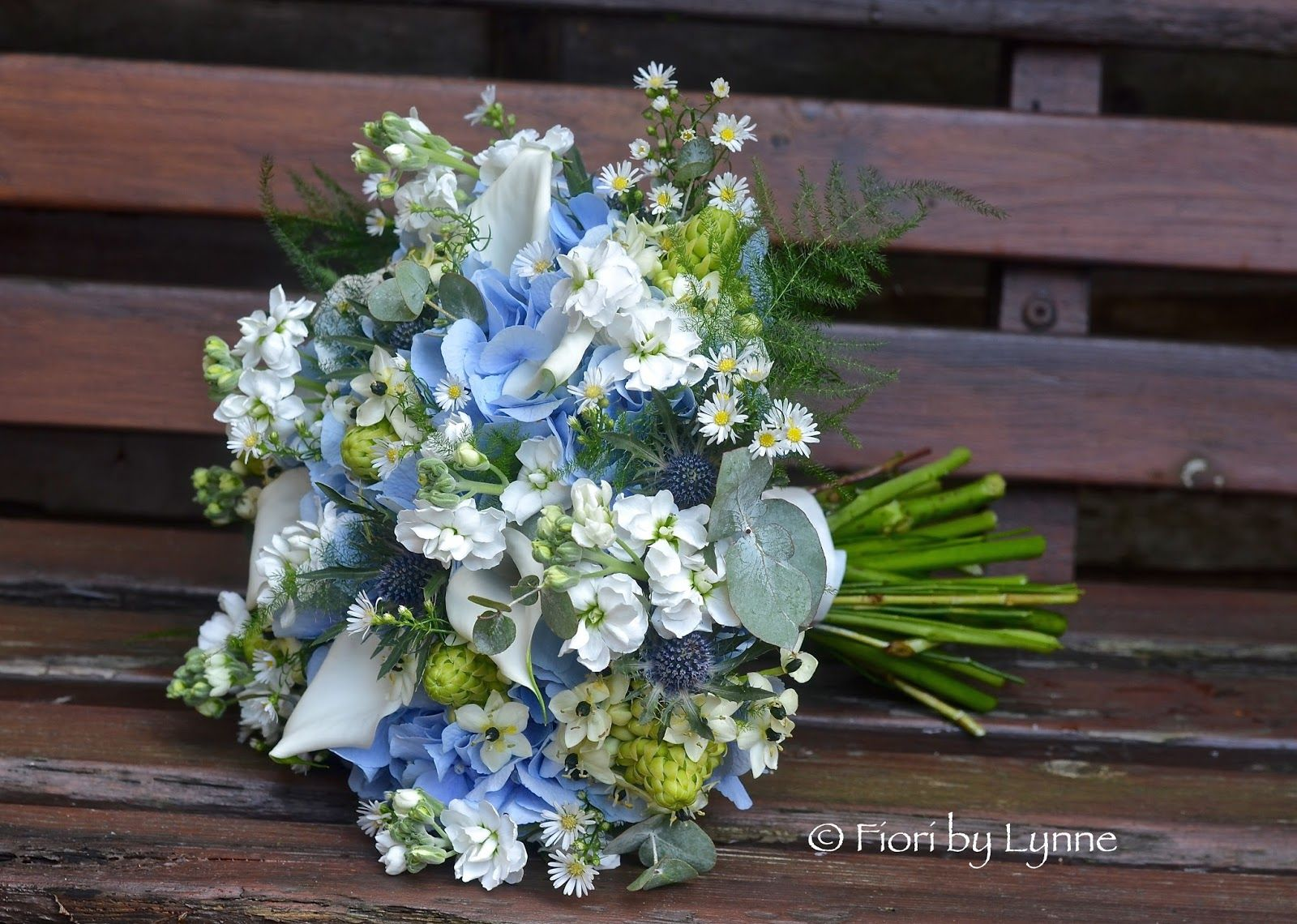 Wedding Flowers Blog Jennie S Rustic Blue Silver And White In The Woods Minstead