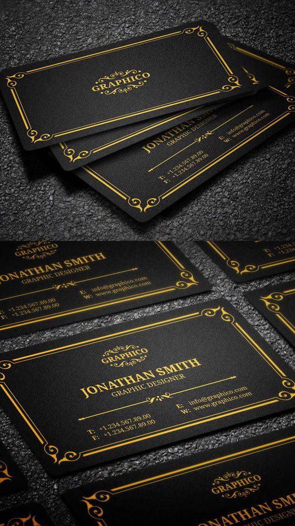 Elegant vintage business card business cards design pinterest 25 new elegant business card psd templates design reheart Choice Image