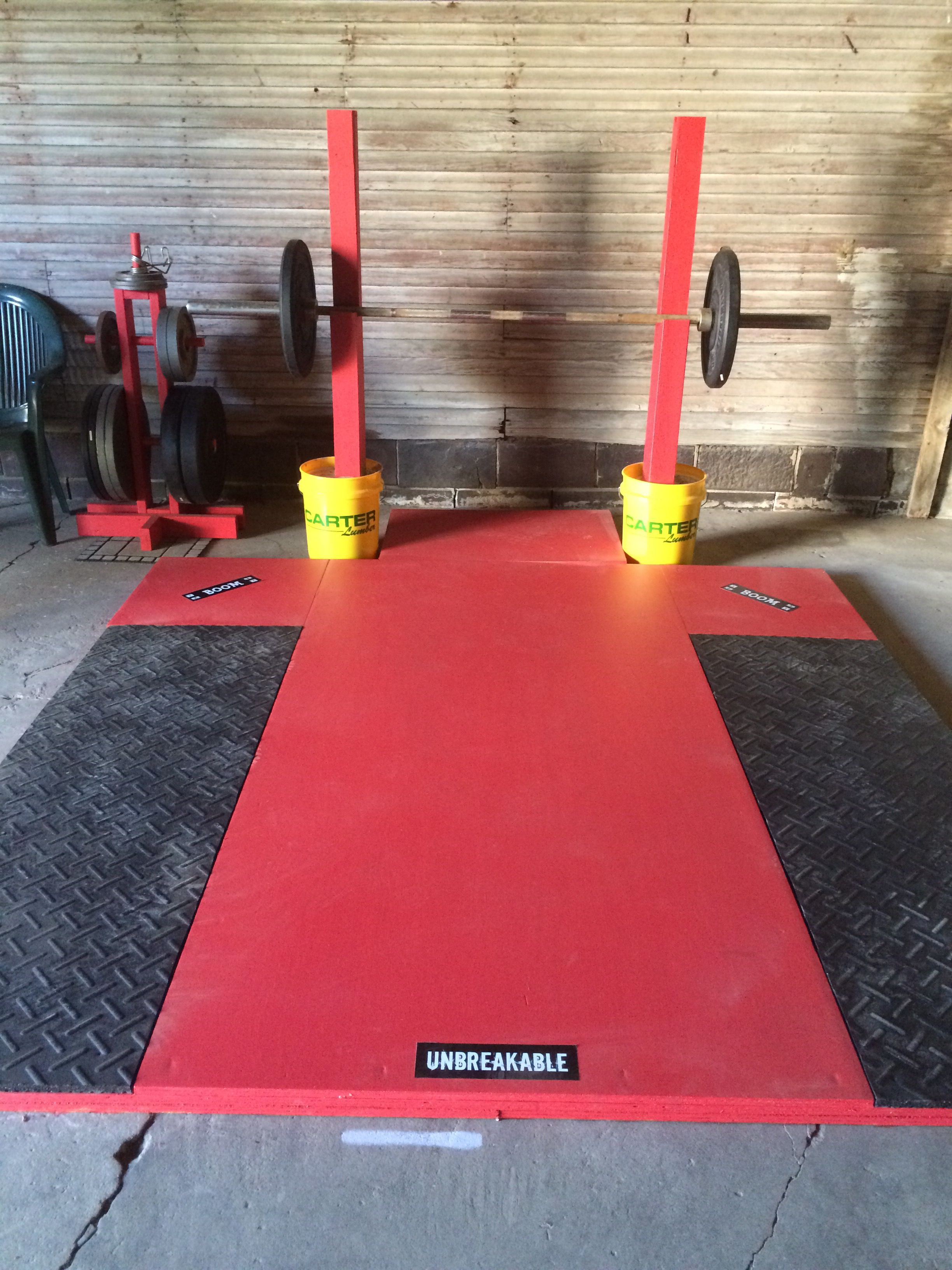 Garage Gym Reviews Diy Platform Lifting Platform And Squat Stands Diy Garage Gym Diy Garage
