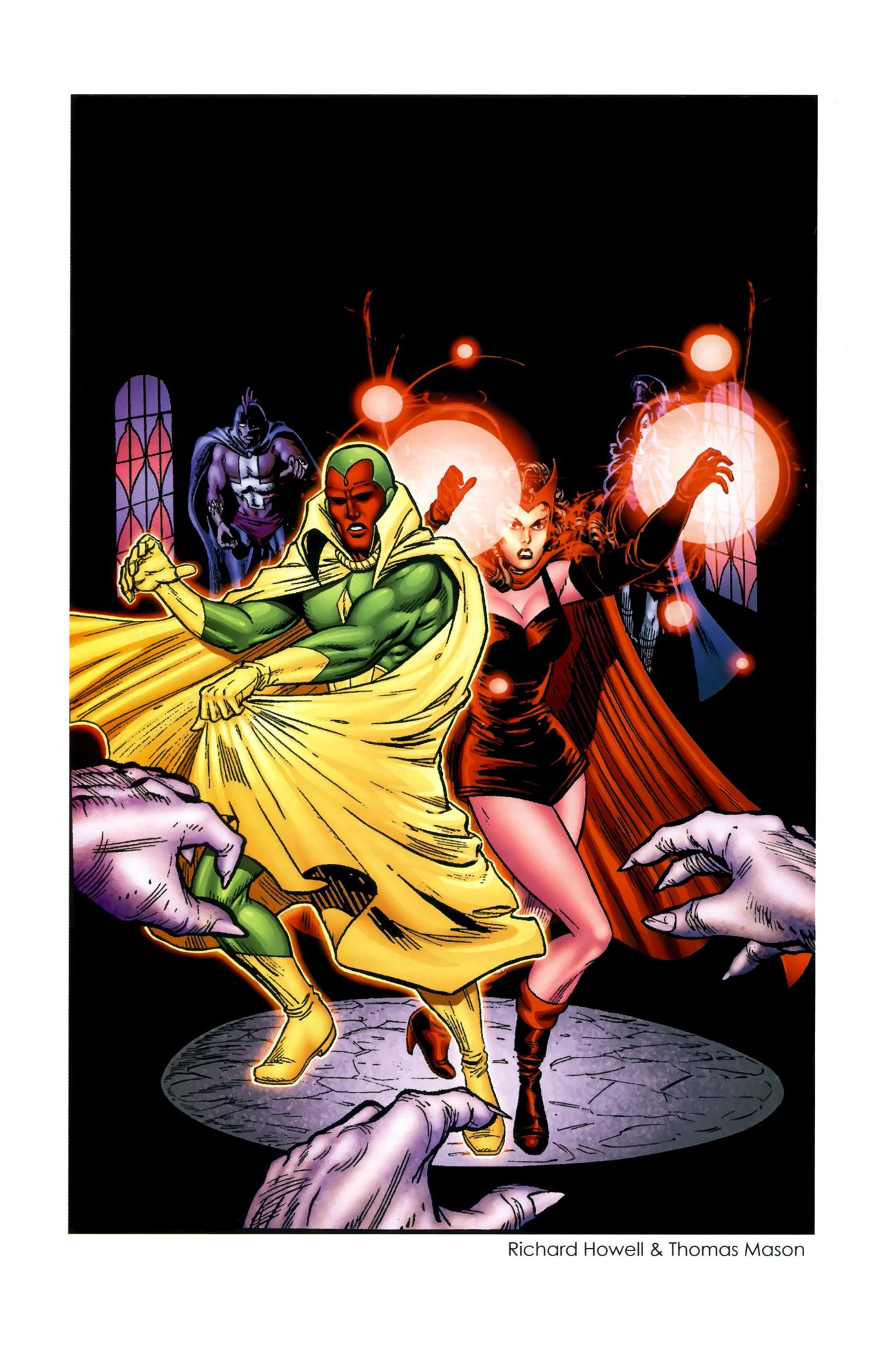 Vision and Scarlet Witch by Richard Howell and Thomas Mason