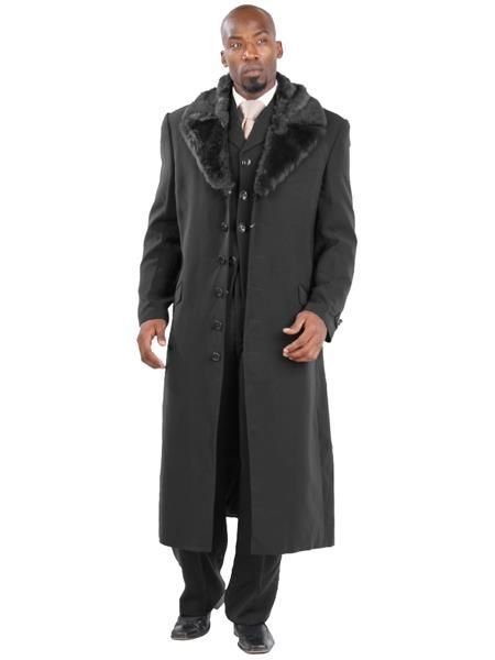John Galliano Mens full length Chinchilla fur coat image 5