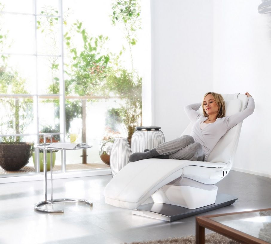 White chaise lounge style recliner chair like a dentist chair  sc 1 st  Pinterest : chaise recliner chair - Sectionals, Sofas & Couches