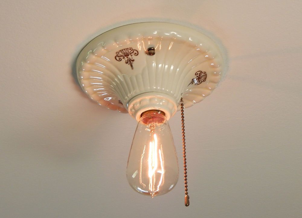 Ceiling Mount Light With Pull Chain Classy Flush Mount Vintage Regency Revival Porcelain Pull Chain Ceiling Inspiration