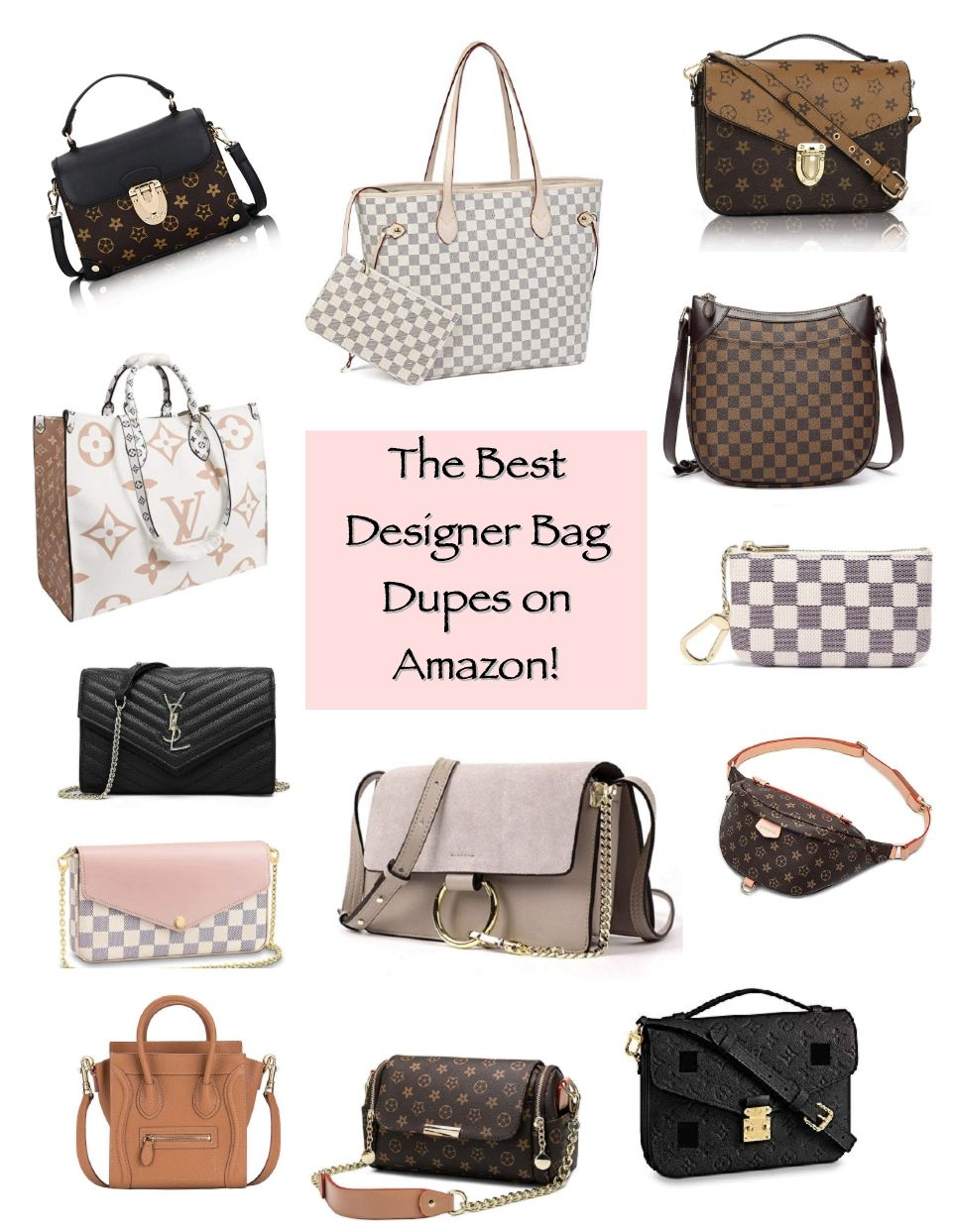 The Best Designer Inspired Bags On Amazon Pt 2 Wishes Reality Best Designer Bags Bags Designer Bags