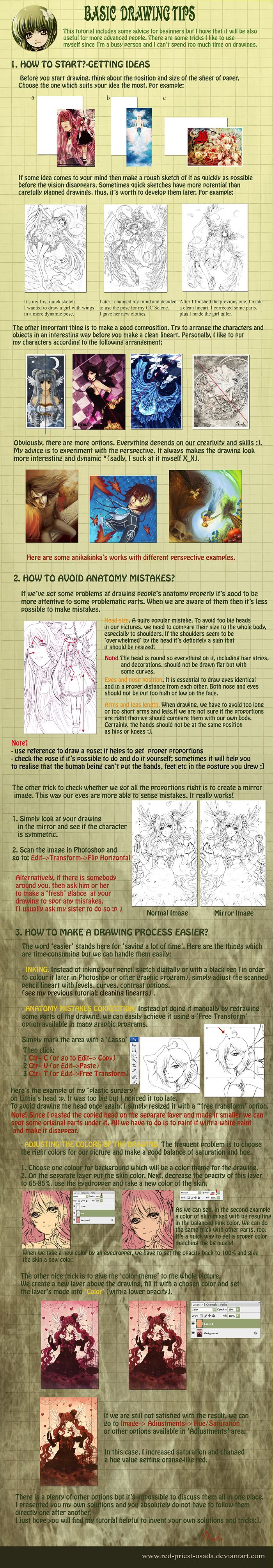 Tutorial: Basic drawing tips by =Red-Priest-Usada