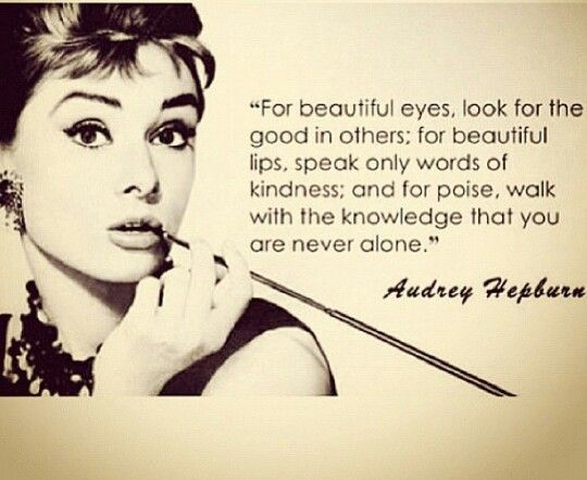 Audrey tips...
