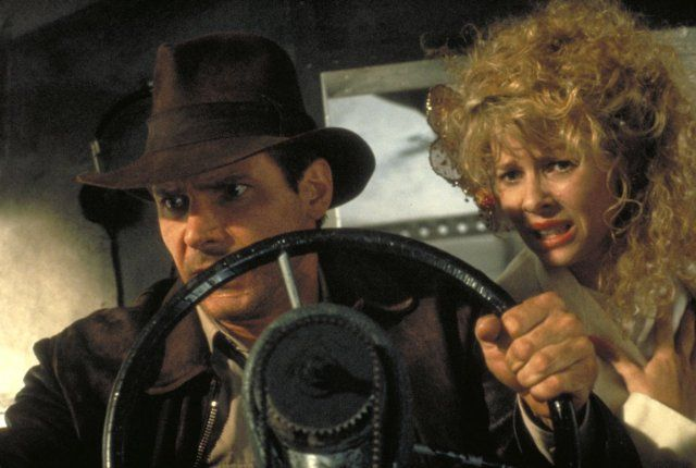 Still of Harrison Ford and Kate Capshaw in Indiana Jones and the Temple of Doom