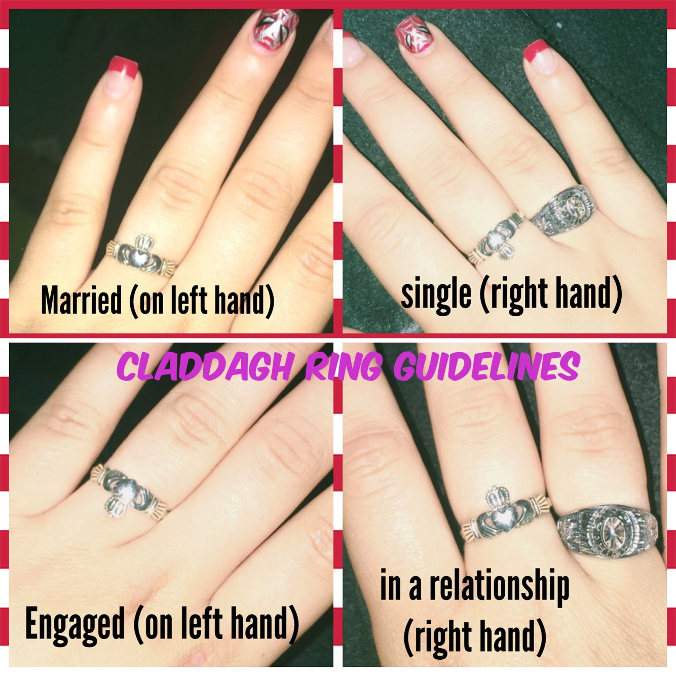 How to wear you claddagh ring yes those are my rings